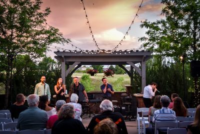 Performance on the patio at the PACE Center in Parker, CO.