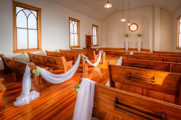 Ruth Chapel interior pews and stage