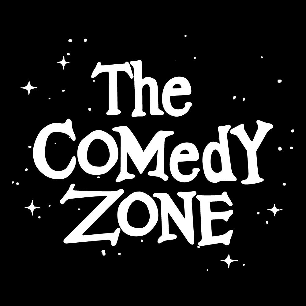 The Comedy Zone white text black background