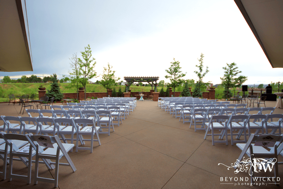 West Patio at PACE Center wedding venue