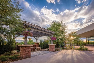Patio at the PACE Center in Parker, CO.