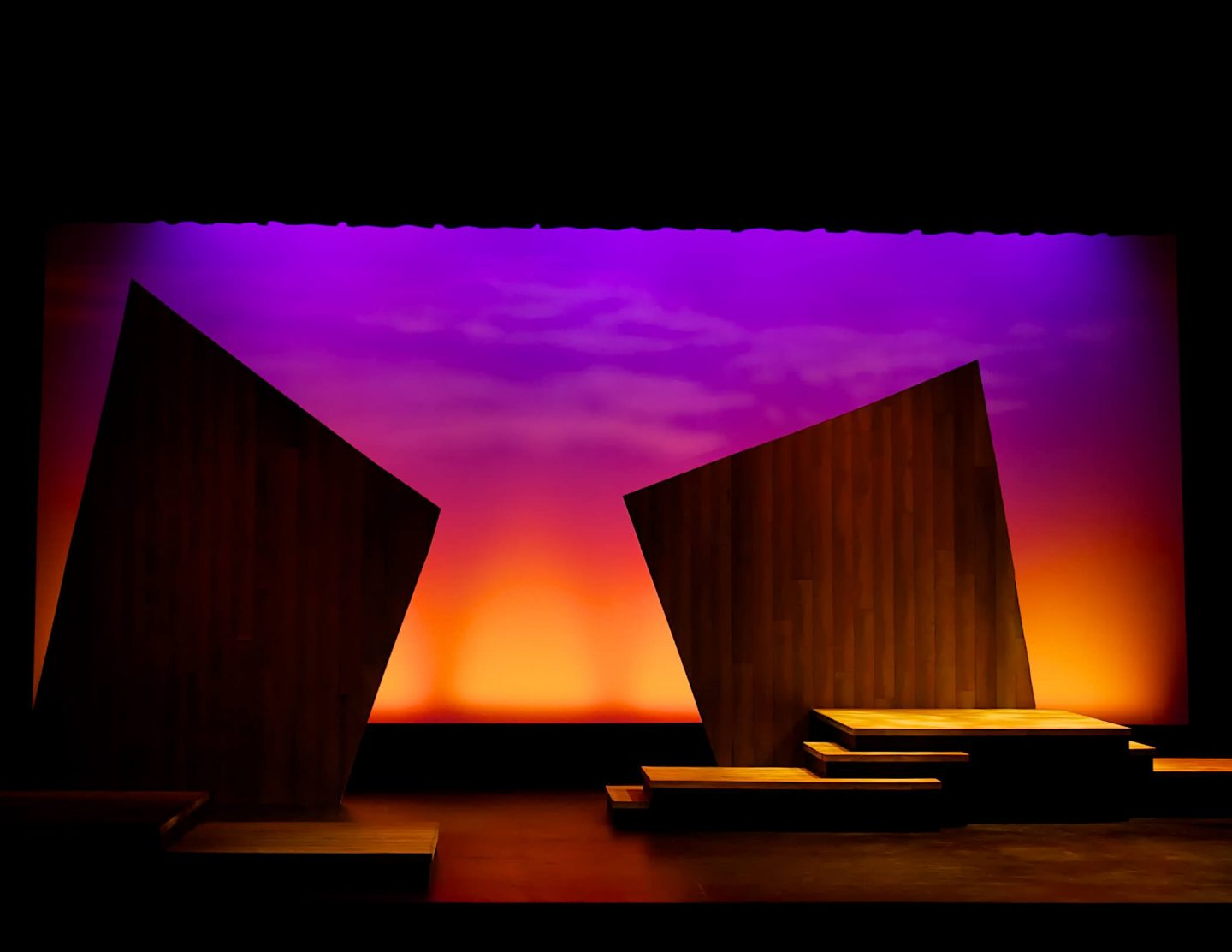 PACE Center stage with set and lighting in Parker, CO.