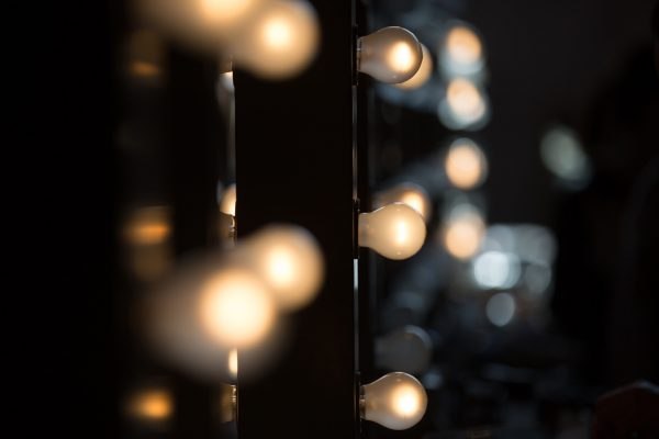 Make up artist mirrors and bulbs.