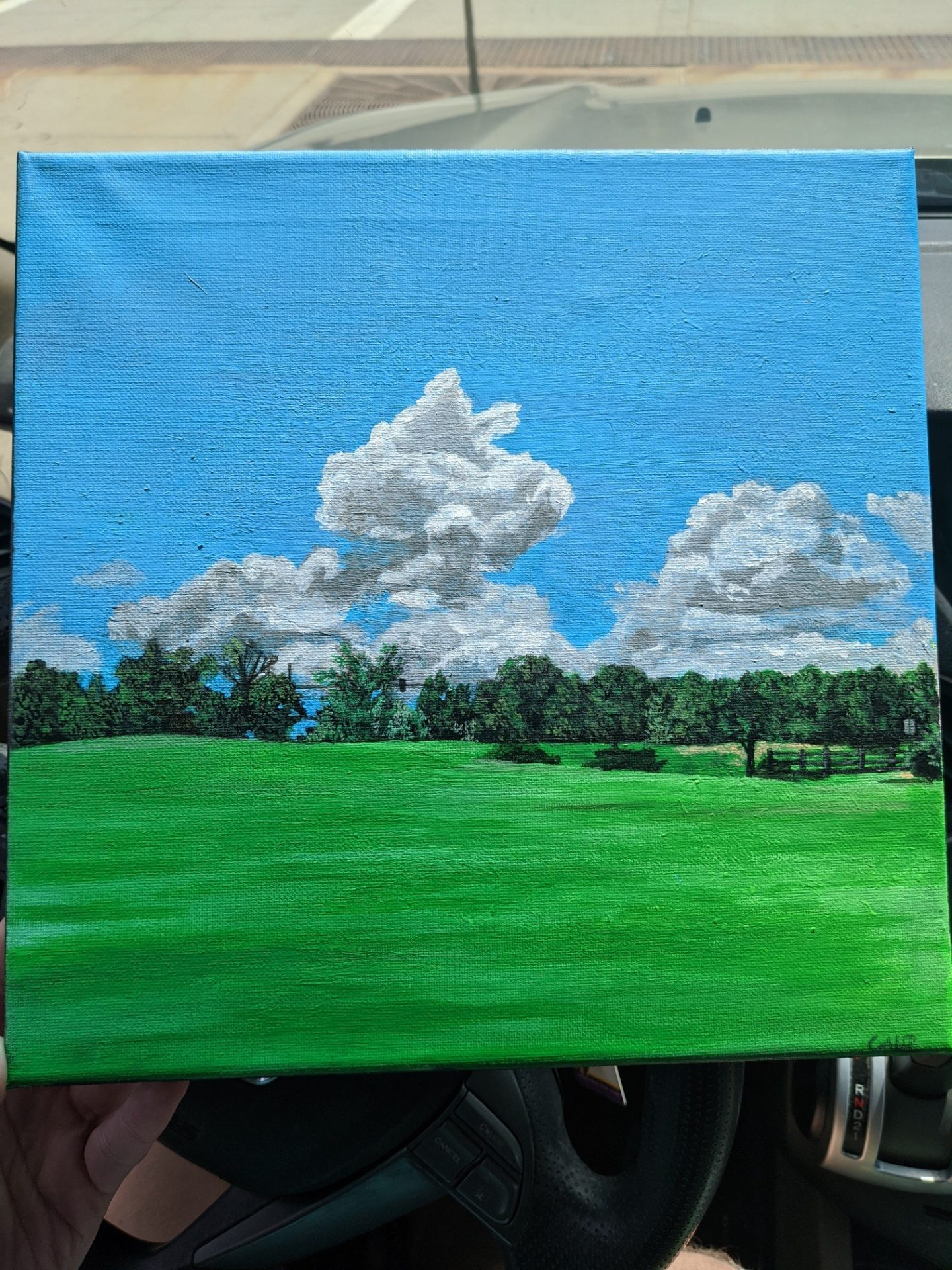 Challenger Park by Caleb Arkell, 10 x 10 Acrylic