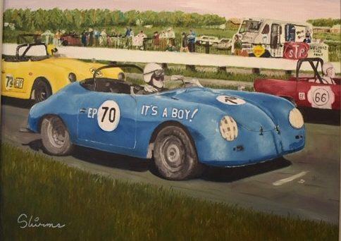 It's a Porsche by Niklas Skirmants, 18 x 24, Oil