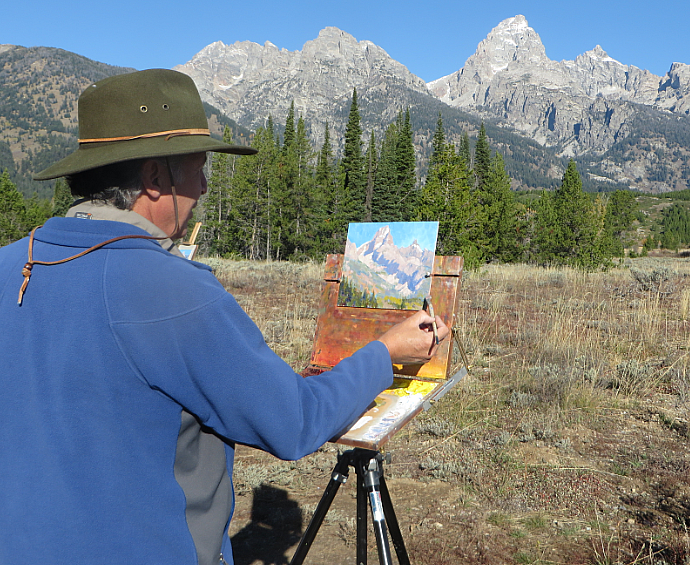 Painting Landscapes Outdoors with Lorenzo Chavez