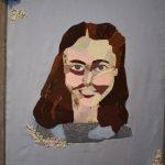 Self Portrait by Jaina Zillnger, 18 x 24, Fabric Mosaic