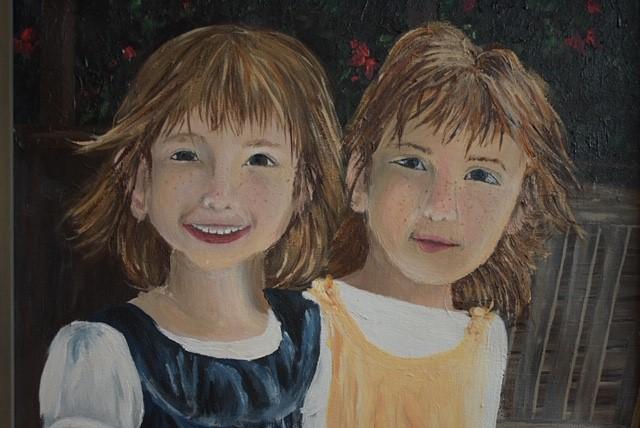 Twins by Lydia Schroeder, 11 x 14, Acrylic